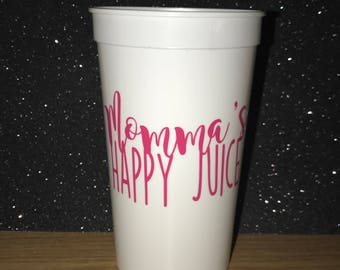 Momma's Happy Juice Tumbler Cup