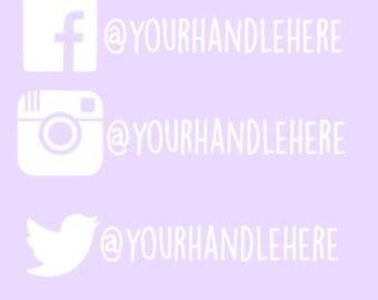 Social Media Handle Decal
