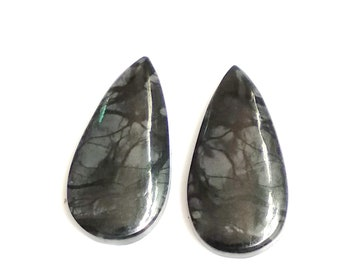Picasso Jasper Pear Pair Cabochon,Size- 27x13 ,MM,Natural Picasso Jasper, AAA,Quality  Loose Gemstone, Smooth Cabochons.