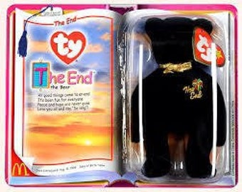 TY McDonald's Beanie Babies THE END Bear Toy *New in package*