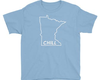 Minnesota Chill Kids - Funny MN Cold Winter Novelty Gift Tees Youth Short Sleeve T-Shirt