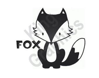 Fox - Machine Embroidery Design
