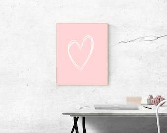 Black friday sale, Nursery love print, digital download, Heart print, Girl nursery decor, Instant download, baby shower gift, Baby girl