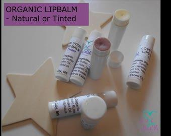 ORGANIC LIPBALM, Lipbalm for Smooth Lips, Natural Lipbalm, Tinted Lipbalm, Lipbalm for Soft Lips