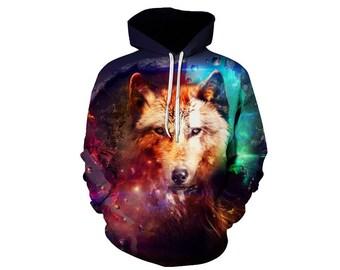 Wolf Hoodie, Wolf, Wolf Hoodies, Animal Prints, Animal Hoodie, Animal Hoodies, Wolves, Hoodie Wolf, Hoodie, 3d Hoodie, 3d Hoodies - Style 13