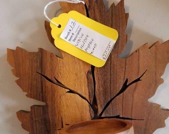 Carved Maple Leaf
