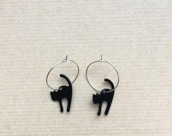 the Ziggy earrings  (black cat earrings)