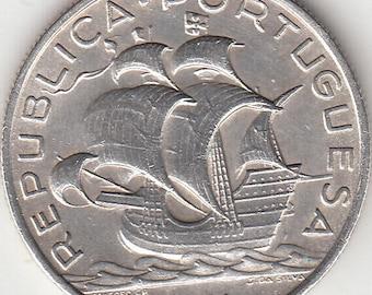 Portugal 5 escudos from 1934 silver coin