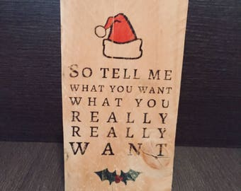 Wooden sign. Christmas. Decoration