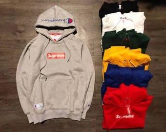 Supreme X Champion pullover hoodies