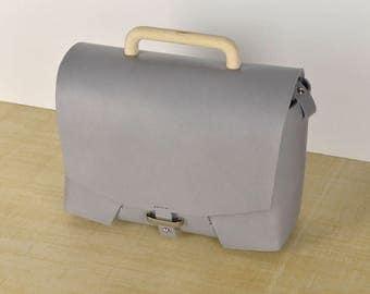 Leather Bag // Leather Handbag // Leather crossbody bag. Handbag. Gray . Shoulder bag.