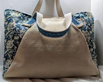 """Big Bag """"Beige Blue"""""""
