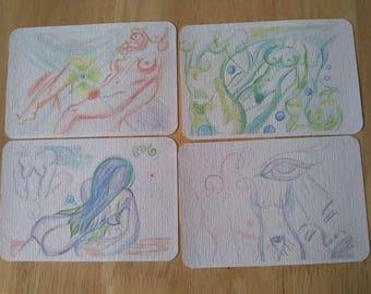 "4""x6"" Goddess Postcards Set of Four"