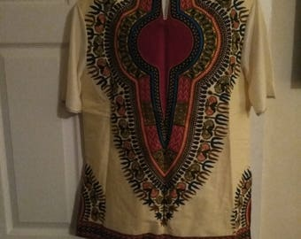 African print short sleeve shirt