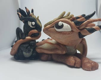 Mother and baby Dragon Sculpture