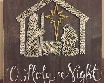 Nativity String Art | O Holy Night | Christmas Decor | Christmas Gift