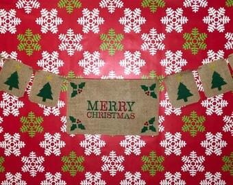 Merry Christmas banner, Christmas Tree banner