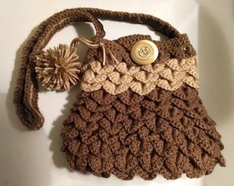 Brown Crocodile purse