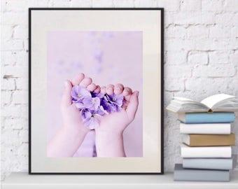 Purple wall decor | Etsy