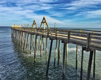 Sea, Sky, and Structure - Pier on the North Carolina Outer Banks - Photography Print
