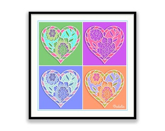 Heart. Love. Heart Art. Print. Love Art. Heart Home Decor. Heart Wall Art. Home Decor. Instant Download.