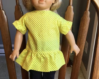"Ruffle shirt and pants fit 18"" dolls such as American girl"