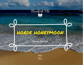 Horde Honeymoon ~ Wood Wick 100% Soy Wax Candle