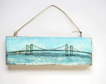 Delaware Memorial Bridge, Delaware to New Jersey, Bridge Painting, Unique HomeDecor, Adoption Support, Bridges Around the World