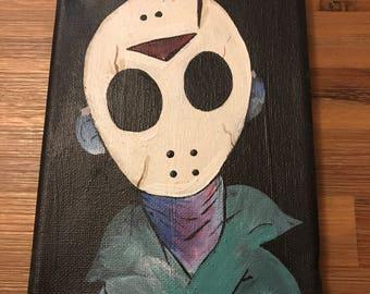 Jason voorhees acrylic painting