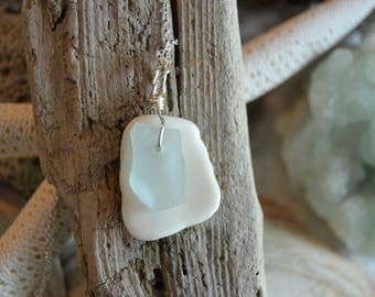 Blue Sea Glass and Shell