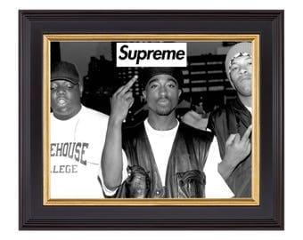 Supreme x Tupac x Biggie Smalls x Dr. Dre Poster or Art Print