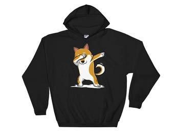 Cute Dabbing Shiba Inu Dog Hoodie Funny Dab Dance Gift