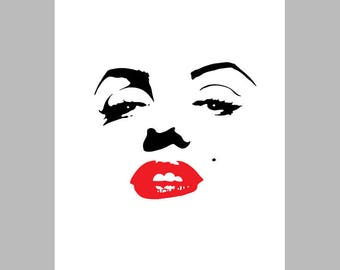 Instant download MARILYN MONROE, printable, poster w0062