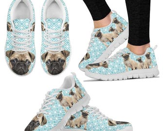Pug Sneakers - Pug Gifts - Shoes for Pug Lovers - Unique Gift for Pug Lovers
