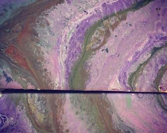 Set of 2 purple geodes