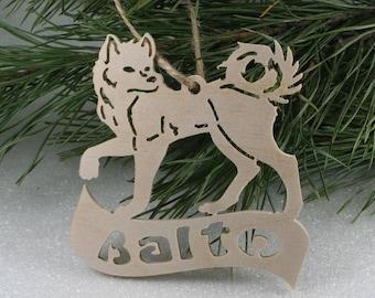 Personalised Name Dog Husky Wooden Christmas Tree decoration,Dog for christmas