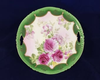 Royal Bayreuth, PT Germany, Cake plate decorated with Roses