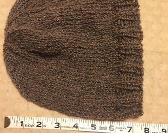 Hand knit wool beanie