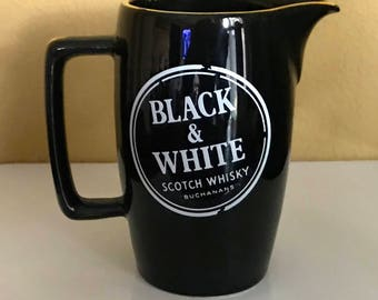 Buchanans Black & White Scotch Whisky Bar/Water Pitcher by Wade PM Made in England