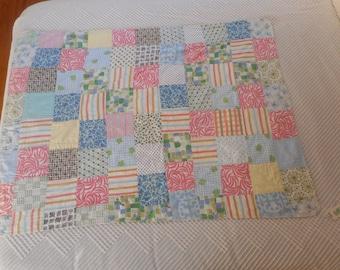 Vintage Retro Quilt Baby Blanket