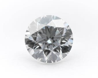1.34ctw Round H&A Moissanite Color D Clarity IF