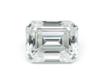3.31ctw Emerald Cut Moissanite Color E Clarity IF