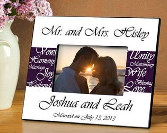 Personalized Mr. and Mrs. Wedding Frame - Wedding Photo Frames - Wedding Gifts - Anniversary Picture Frames - Mr. and Mrs. Photo Frames