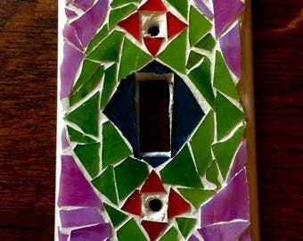 Vibrant mosaic switch plate cover