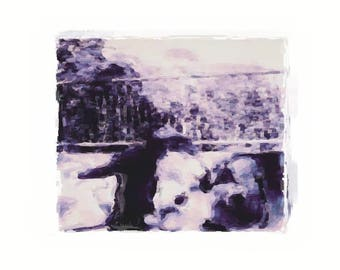 Print, Dance- black and white