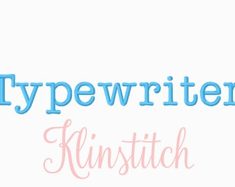 50% Sale!! Type Writer Embroidery Fonts 3 Sizes Fonts BX Fonts Embroidery Designs PES Fonts Alphabets - Instant Download