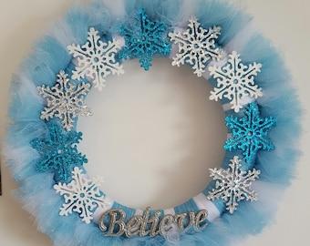 Believe Winter Wreath