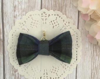 Green traveler's notebook bow charm