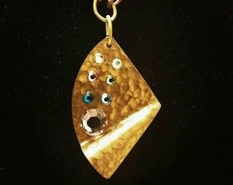 Pastel Swarvoski crystals necklace