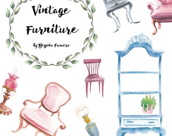Vintage Furniture Clipart